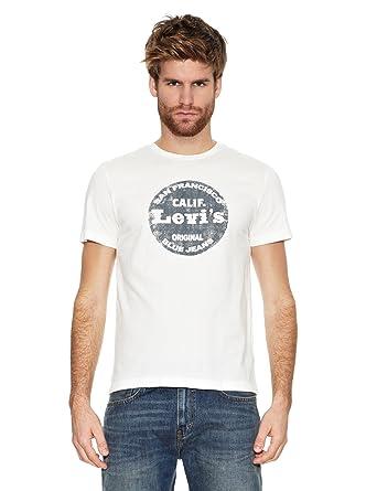 5b57a0c59bde Levi's Mens Mens Graphic T-Shirt in Off White - L: Levis: Amazon.co ...