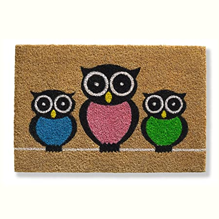 Owls Kokos Fussmatte Eulen Fussabtreter Eule 40x60 Cm Amazon Co Uk