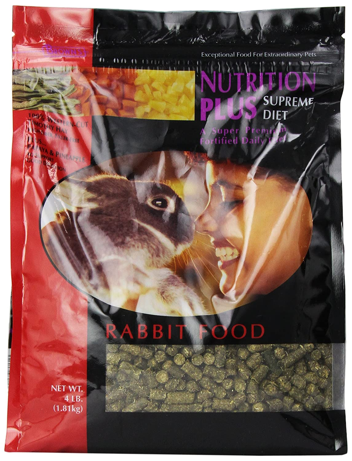 F.M. Brown's Nutrition Plus Supreme Rabbit Food, 4-Pound