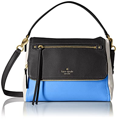 Kate Spade New York Shoulder Bag for Women, Black, Leather, 2017, one size