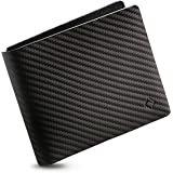 EGNT Mens Leather Wallet with ID Window Slim RFID Bifold Travel Black Size: One Size