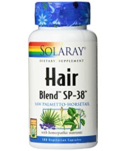 Solaray Hair Blend SP-38 Capsules, 100 Count