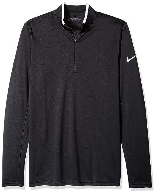 e7c35e1c8b8 NIKE Men's Dry Half-Zip Golf Shirt, Black/White/White, Small