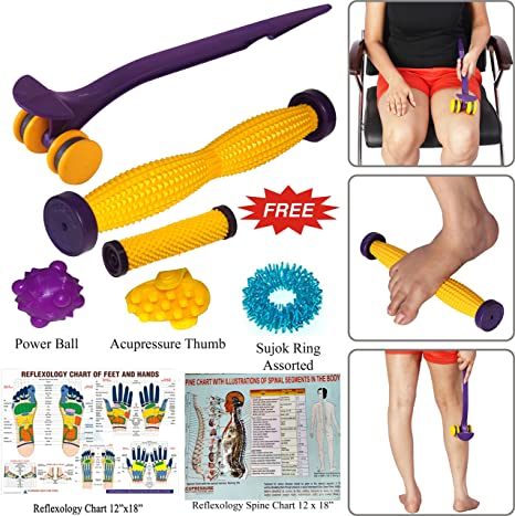 Super India Store Spine Roller International Power Roll Foot with  Acupressure Health Care Products