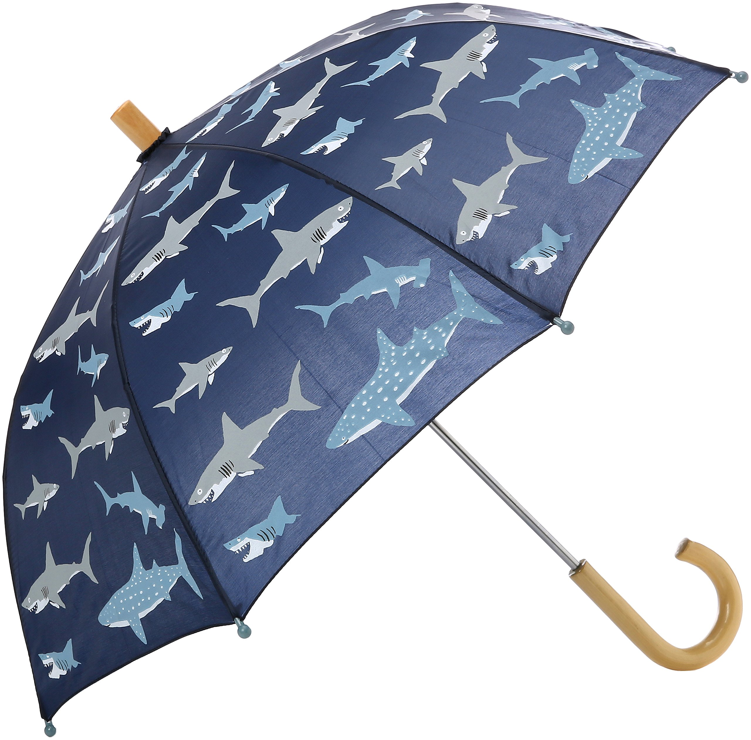Hatley Little Boys' Printed Umbrellas, Shark Frenzy, One Size