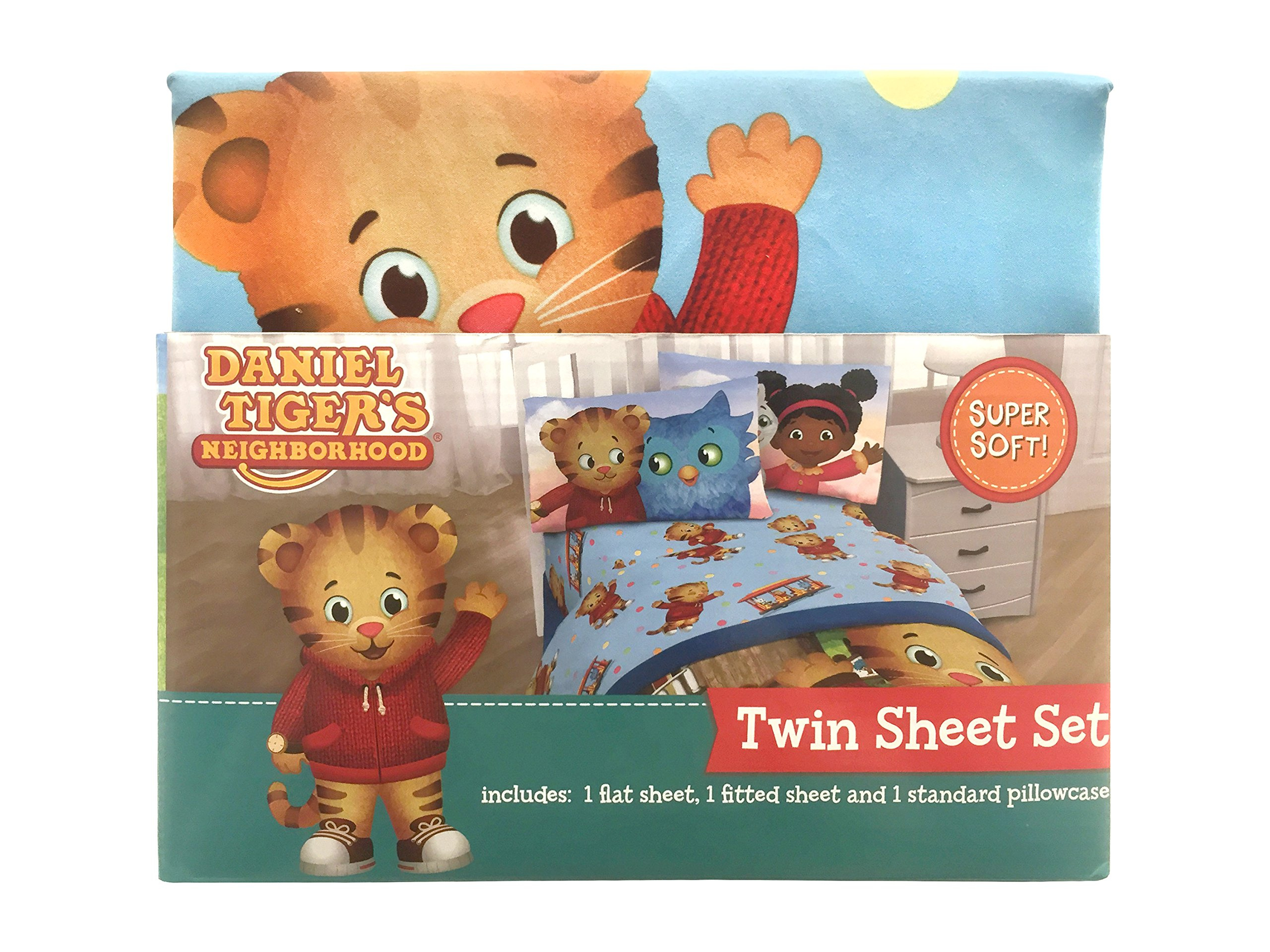 Blue//Green PBS Kids Daniel Tiger Treehouse Pals Twin Comforter