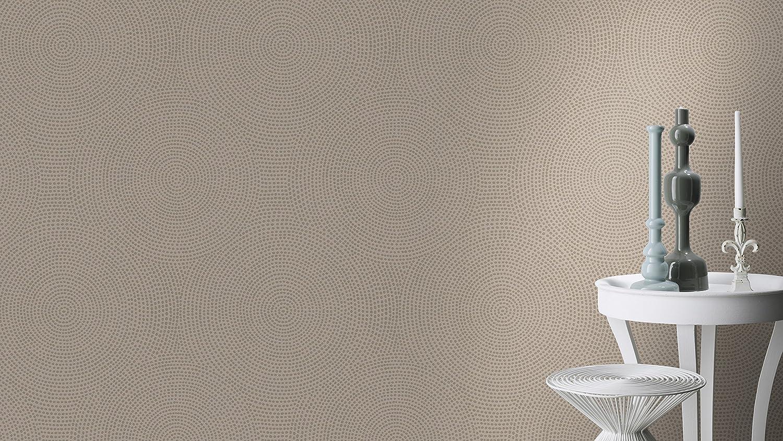 Rasch Tapeten Rasch Vlies Tapete Kreise In Beige Und Gold Metallic