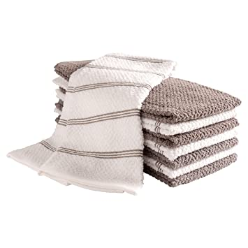 Terry Cloth Kitchen Towels.Kaf Home Pantry Piedmont Terry Kitchen Towels Set Of 8 16 X 26 Inch Absorbent Terry Cloth Dish Towels Hand Towels Tea Towels Perfect For