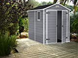 KETER Manor 6x8 Foot Large Resin Outdoor Shed Kit