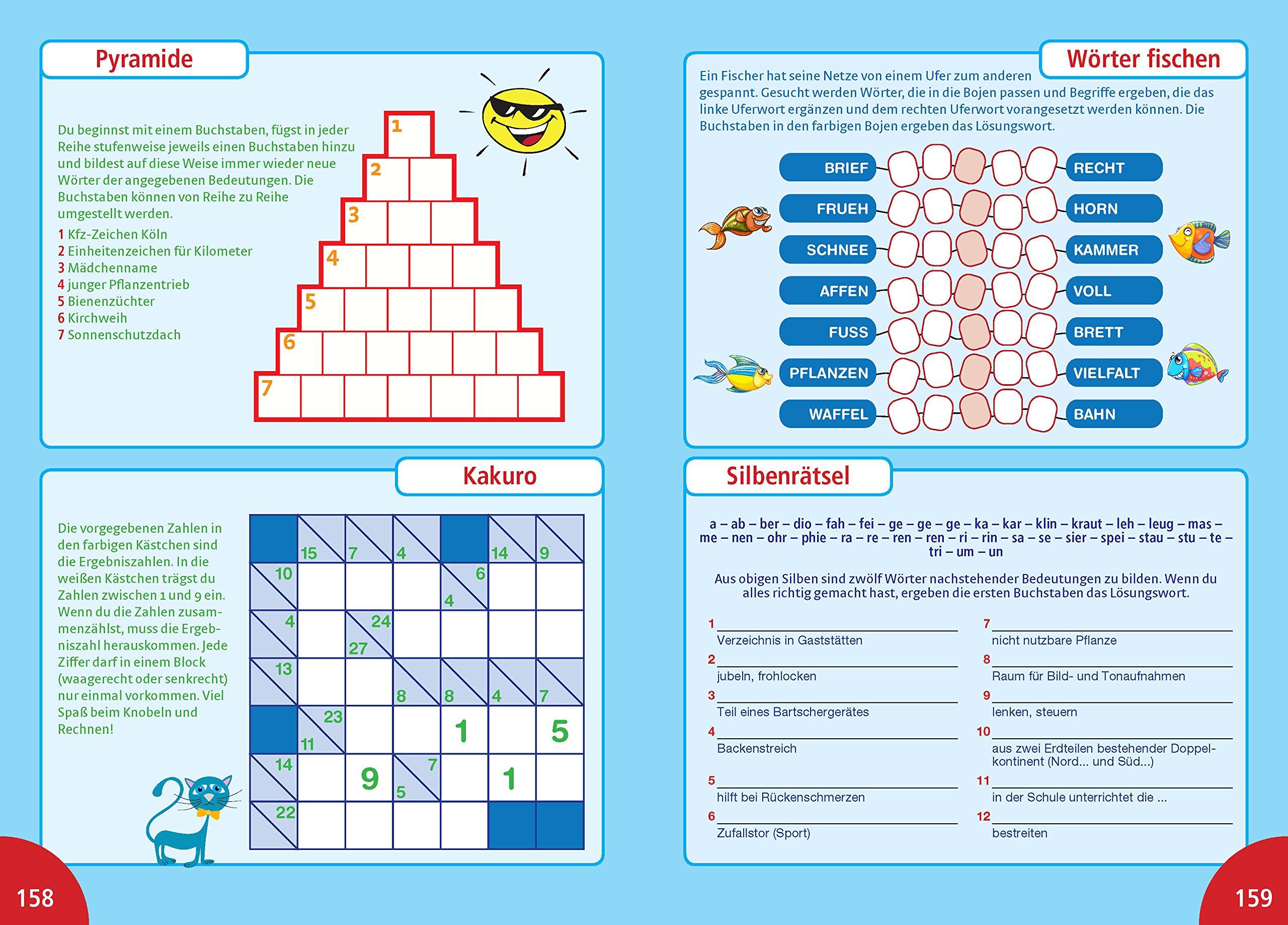 Rätsel Für Kinder 400 Seiten Spannender Rätselspaß Alles In Farbe