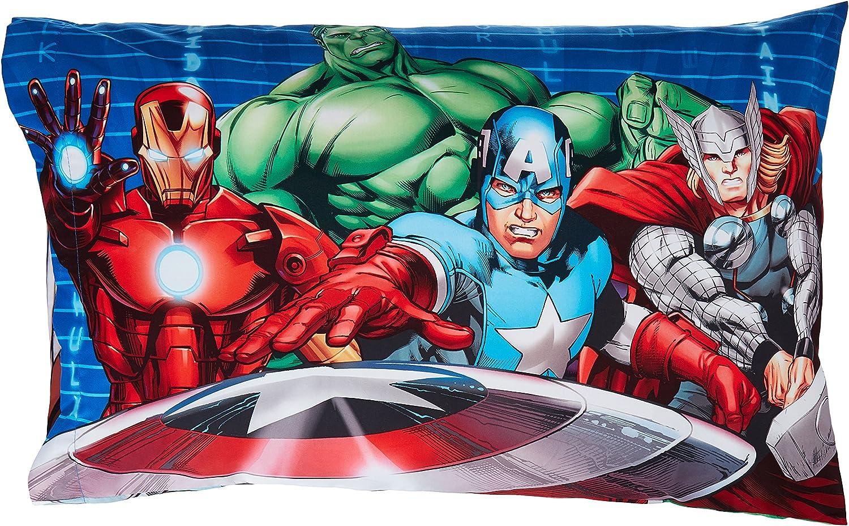 Avengers Hulk Pillowcase Queen Size Velvet Soft Zipper Pillow Protector Cover