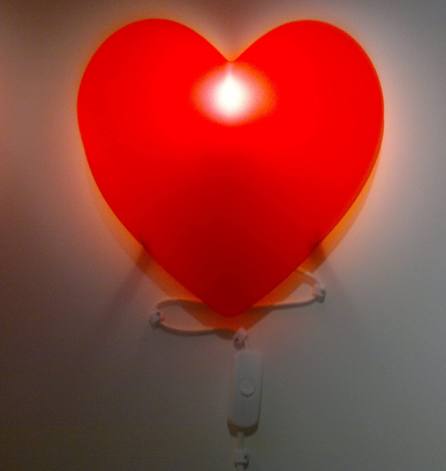 Ikea children red heart bedroom wall light amazon kitchen home mozeypictures Image collections