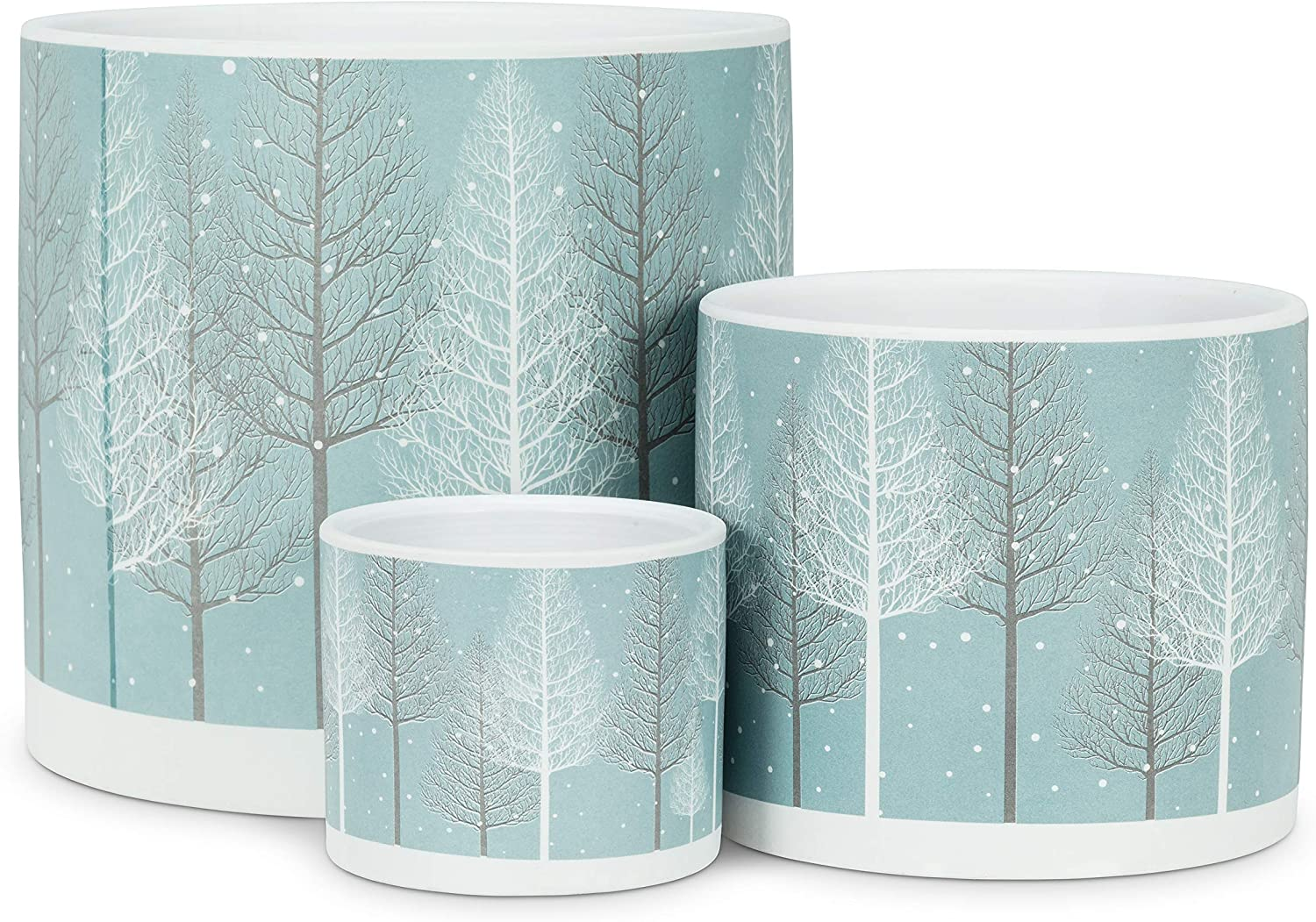 Abbott Collection Extra Small Snowy Forest Planter-3 D 27-PL-ICX-01-XS