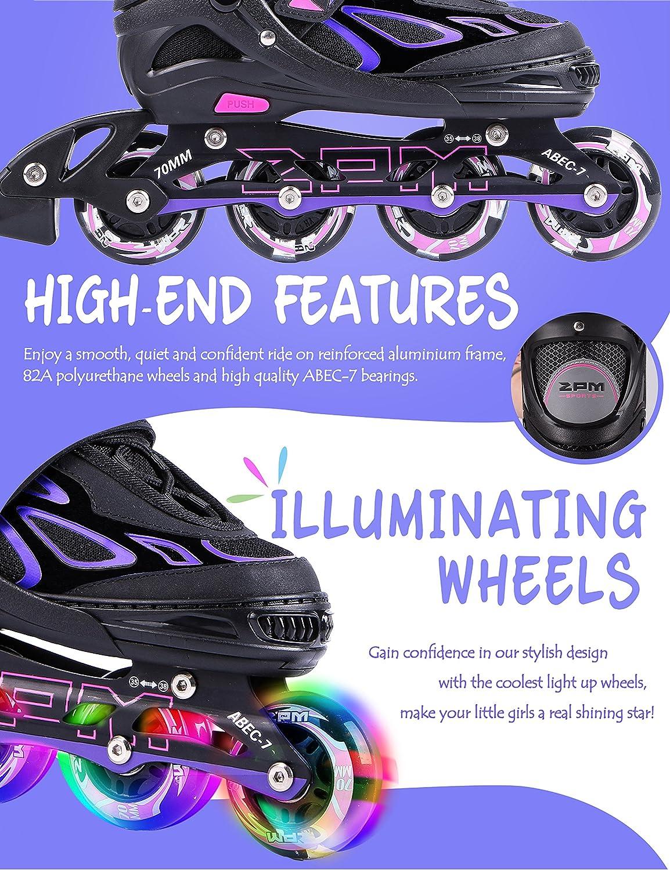 2pm Sports Adjustable Light up Kid Inline Skates - 2