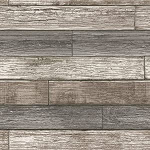 NuWallpaper NU3130 Peel & Stick Reclaimed Wood Plank Natural Peel and Stick Wallpaper