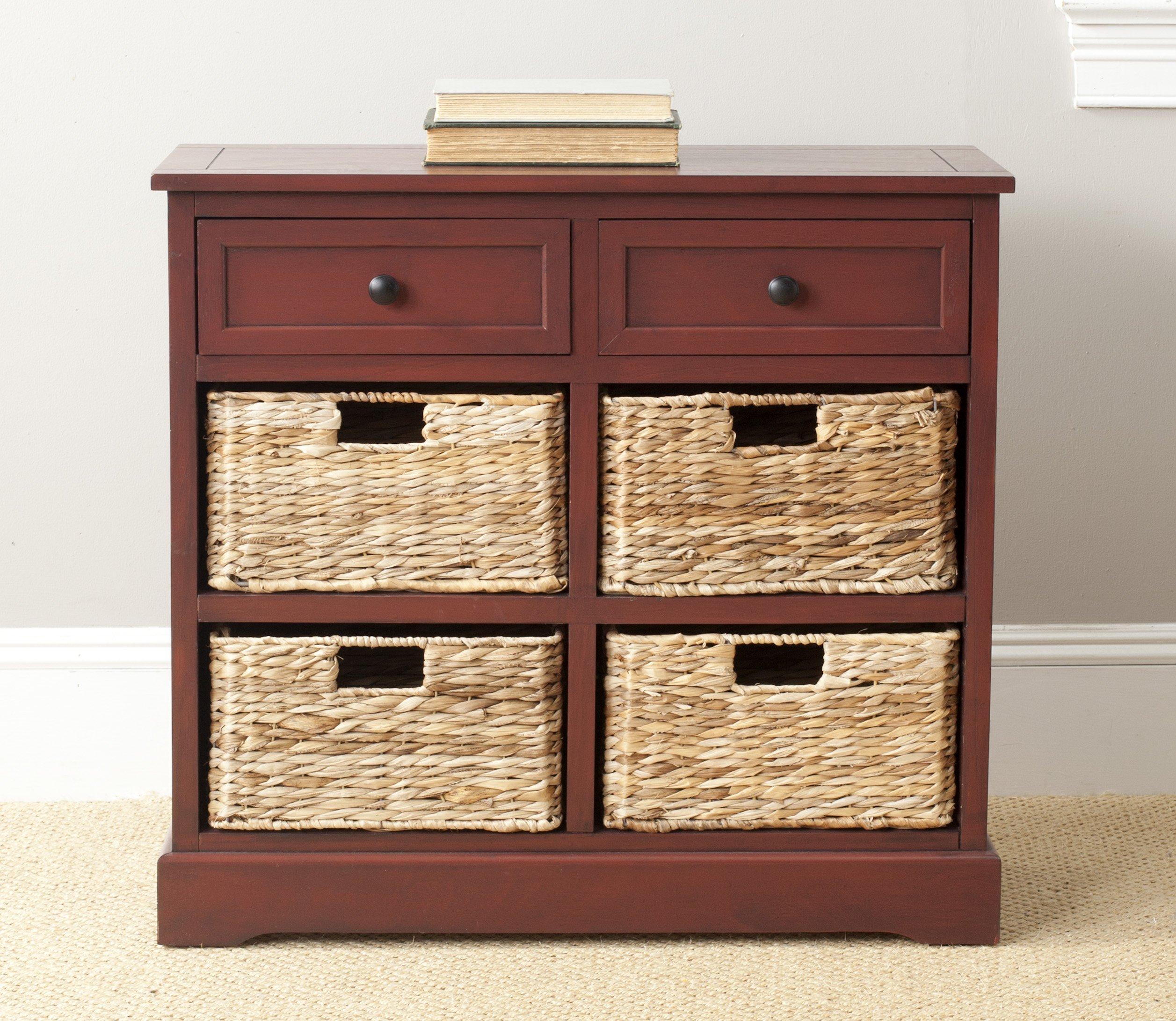 Safavieh Home Collection Herman Red Storage Unit