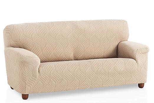 Funda de sofá elástica Aitana - Color Marfil - Tamaño 3 plazas (de 160 a 210 cm)