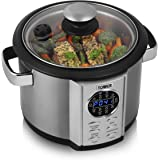 Tower T16006 Digital Multi-Cooker with LED Display and Steaming Tray, 5 Litre, 700 W, Stainless Steel