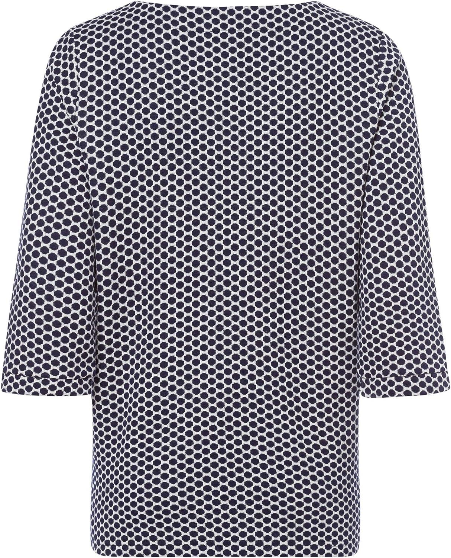 Olsen Damen Sweatshirt im Punkt-Design Ink Blue