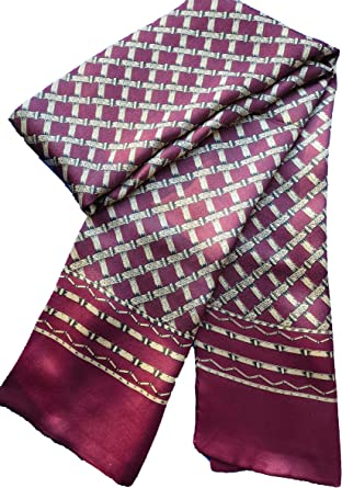 "Ellettee 63/"" X 11/"" Man/'S 100 Pure Silk Scarf Wrap Accessory Gift"