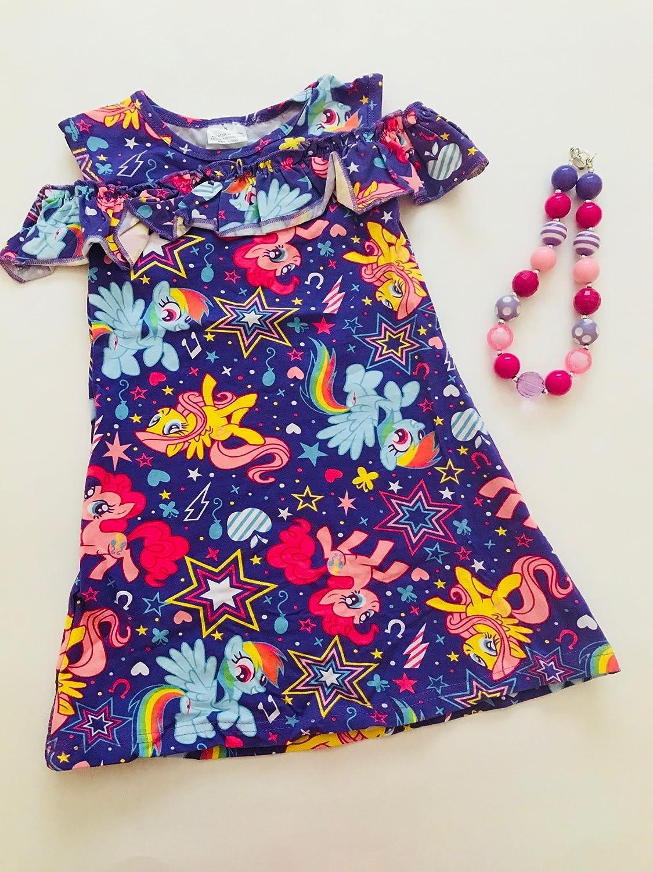 Amazon.com  My Little Pony 3pc Boutique Cold Shoulder Clothing Dress Set   Clothing 7f28817a2