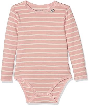 5fc33a506217 Papfar Baby Girls  Brooke Langarmbody im Streifenlook Bodysuit ...