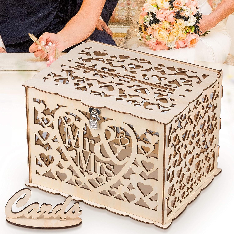 GLM Wedding Card Box, Rustic Wedding Decorations and Country Wedding  Decorations, Card Box for Wedding Reception, Bridal Shower, and Anniversary