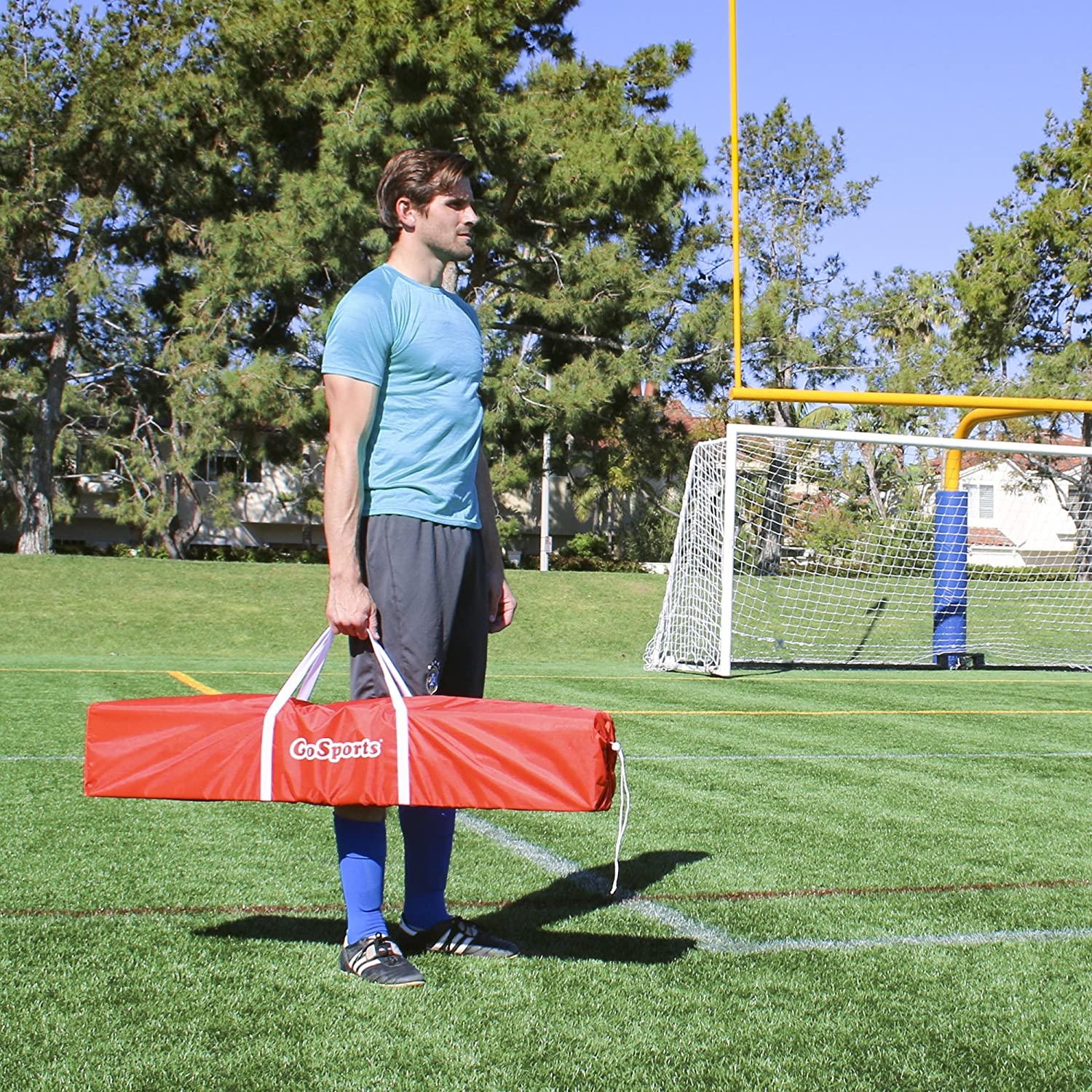 Choose 6 or 12 Goal Size 6 Training Cones /& Portable Carrying Case Includes 1 Elite Goal GoSports Elite Soccer Goals