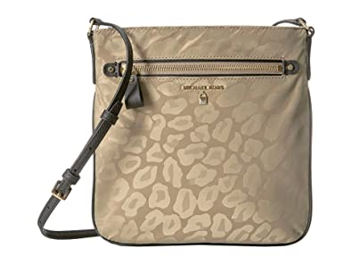 40b586cef Image Unavailable. Image not available for. Color: Michael Michael Kors  Kelsey Leopard Nylon Crossbody Bag Truffle