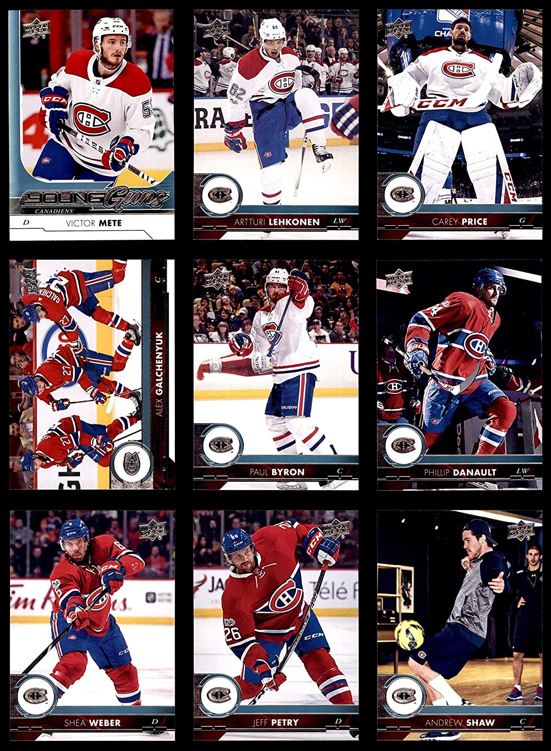 2017-18 Upper Deck Montreal Canadiens Almost Complete Team Set Montreal Canadiens (Baseball Set) Dean's Cards 8 - NM/MT Canadiens 91AjyL2NTML