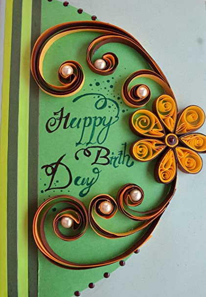 Psartworks Beautiful 3d Paper Quilling Birthday Greeting Card