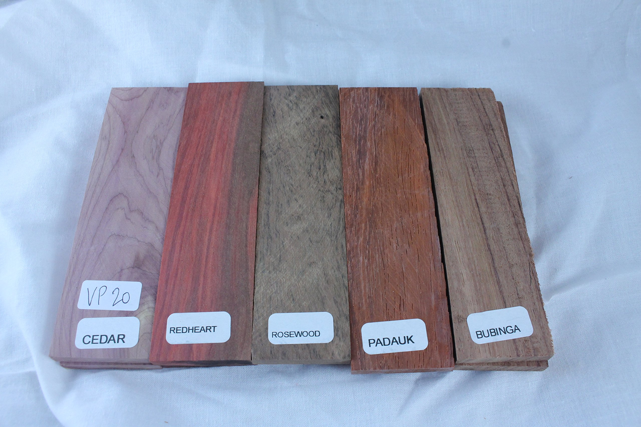 Payne Bros Custom Knives Variety Pack of 5 Wood Scales, 5 INCH, for Knife Making - Gun grps - Craft Supplies (VP20)