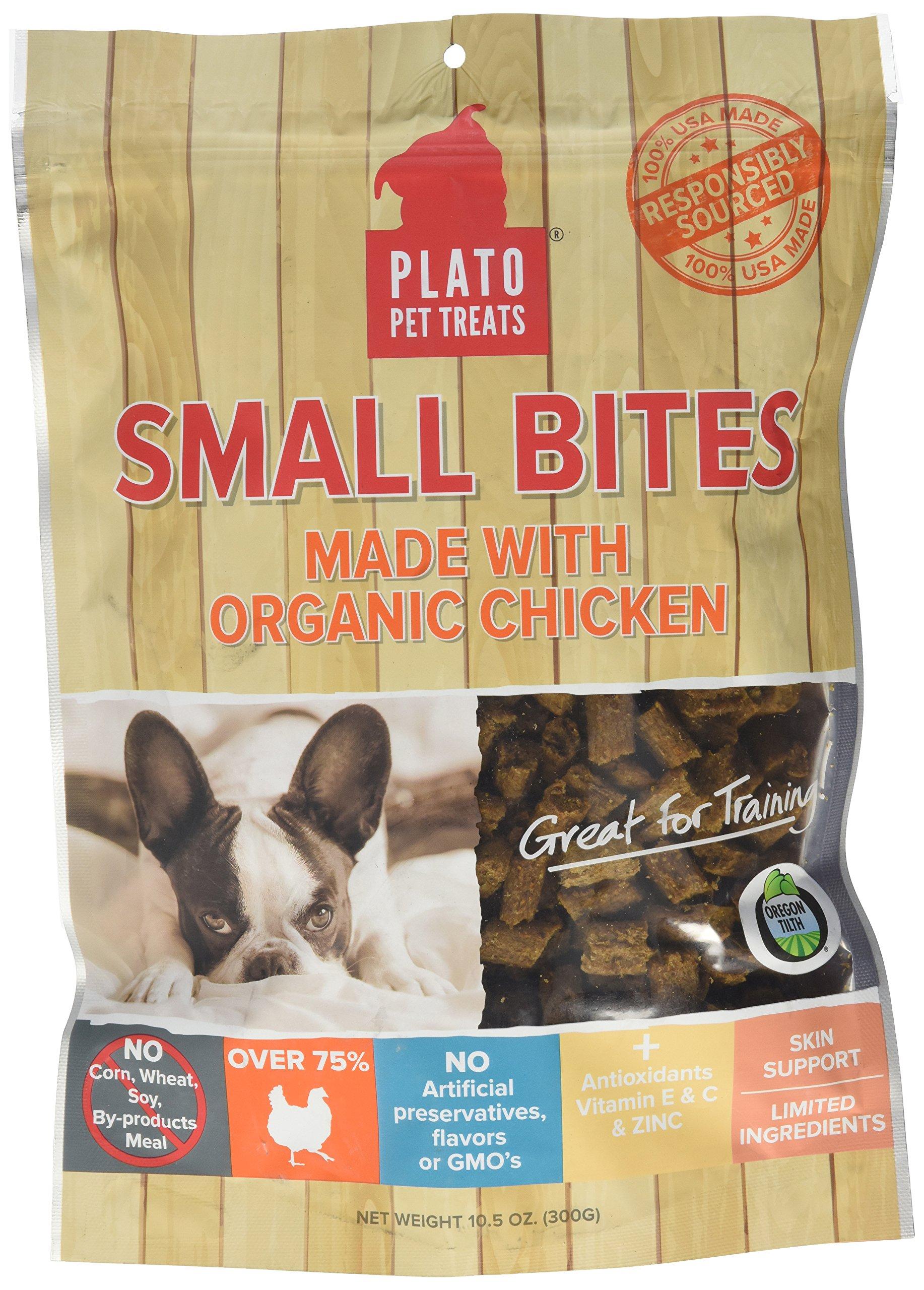 PLATO Dog Treats -- Organic Chicken -- Pet Treats, All