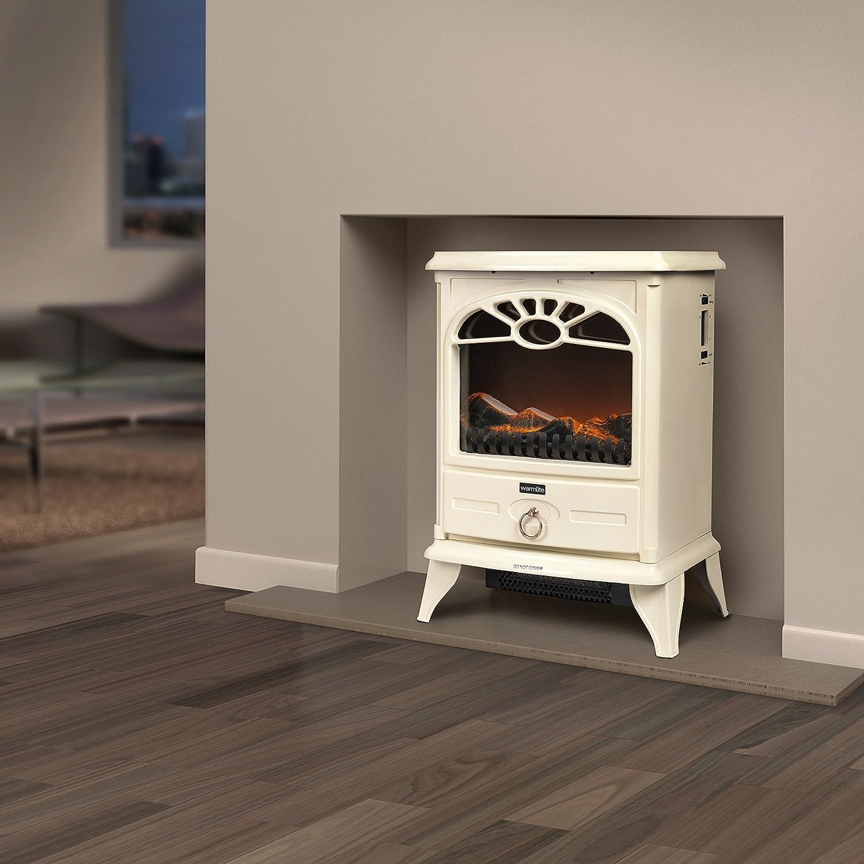 Warmlite WL46014C Log Effect Stove Cream 2000 W