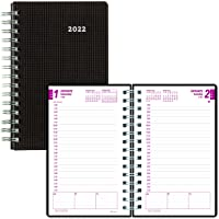 """Brownline 2022 DuraFlex Daily/Monthly Planner, Appointment Book, 12 Months, January to December, Twin-Wire Binding, 8"""" x…"""