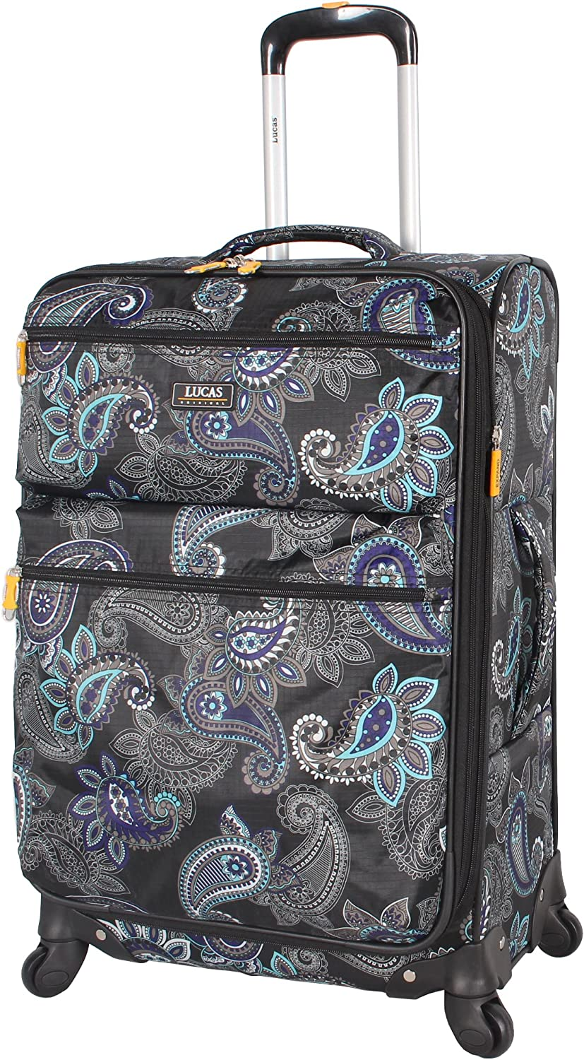 Durable Small Ultra Lightweight Bag with 4-Rolling Spinner Wheels Expandable 20 Inch Suitcase Diva Lucas Designer Luggage Carry On Collection