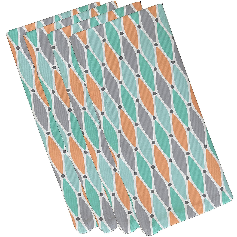 19 x 19 Geometric Print Napkin E by design Wavy Splash Aqua 19 x 19 N4GN477GY1BL41
