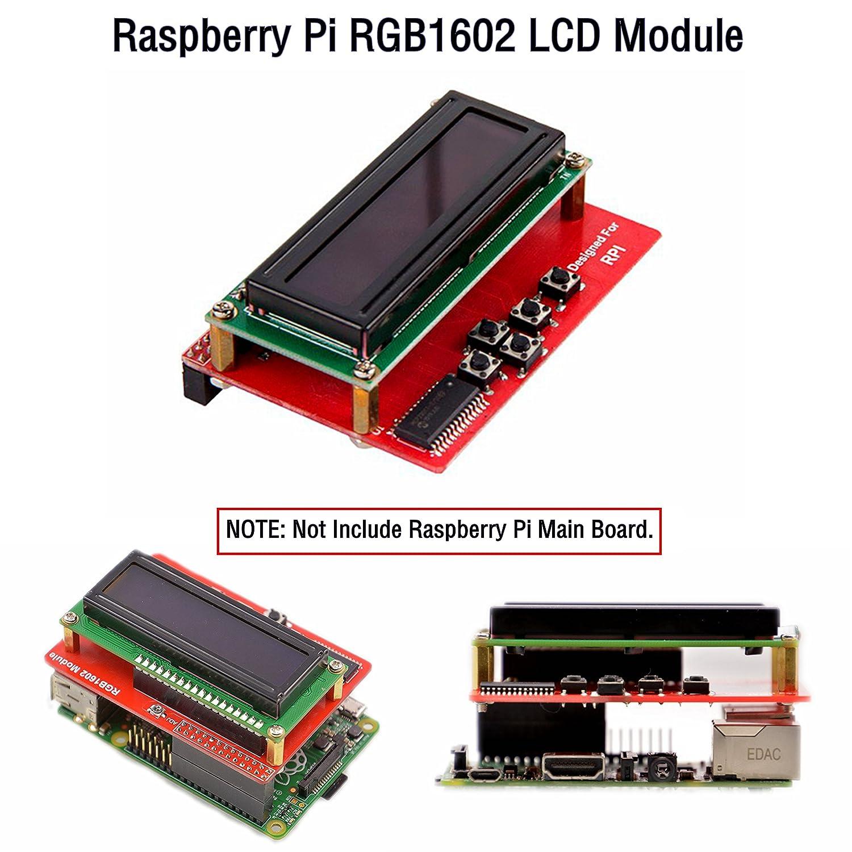 Raspberry Pi Rgb1602 Lcd Module Elettronica Wiringpi Gpio Mcp23017