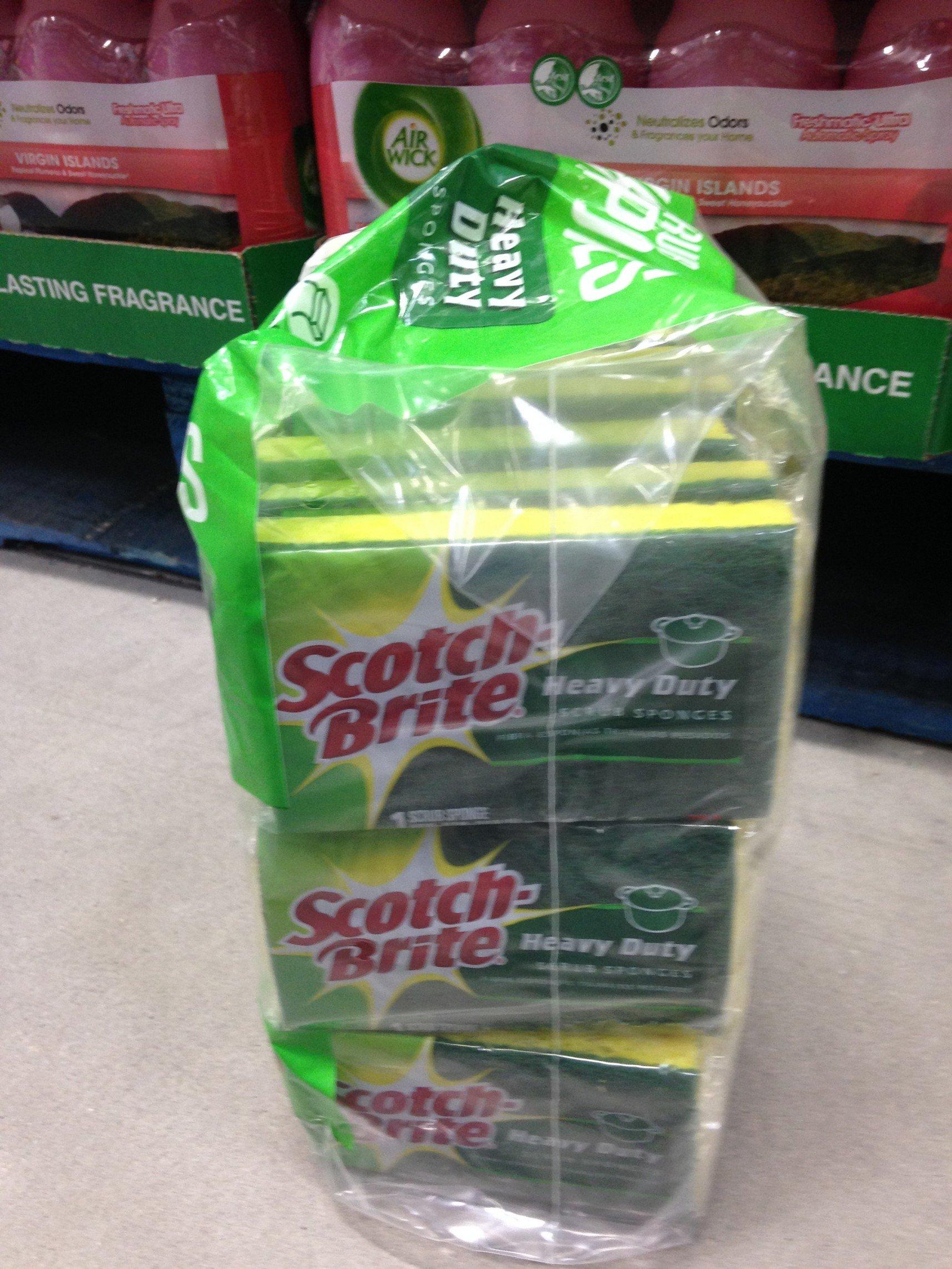Scotch- Brite heavy duty kitchen sponges 18 pk (pack of 6) by Scotch-Brite