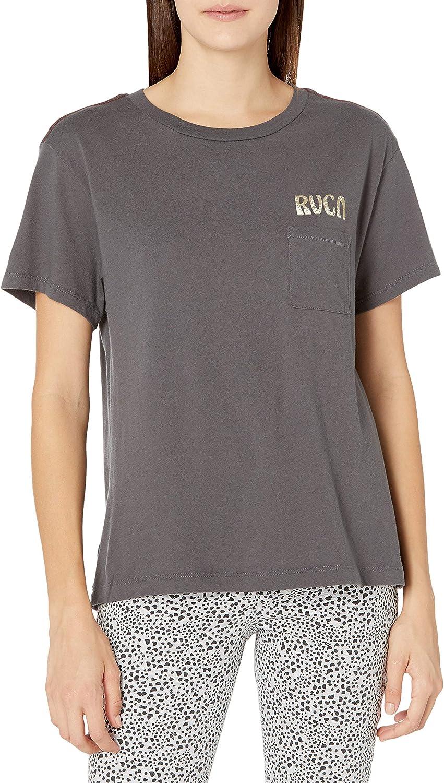 RVCA Womens Tourist Trap Short Sleeve Pocket T-Shirt