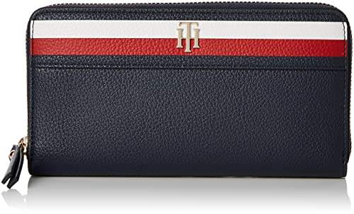 Tommy Hilfiger - Cool Hardware Za Wallet Corp, Carteras Mujer, Negro (Corporate)