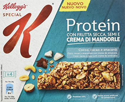 Kelloggs Barritas Special K Proteínas Chocolate, Coco and ...