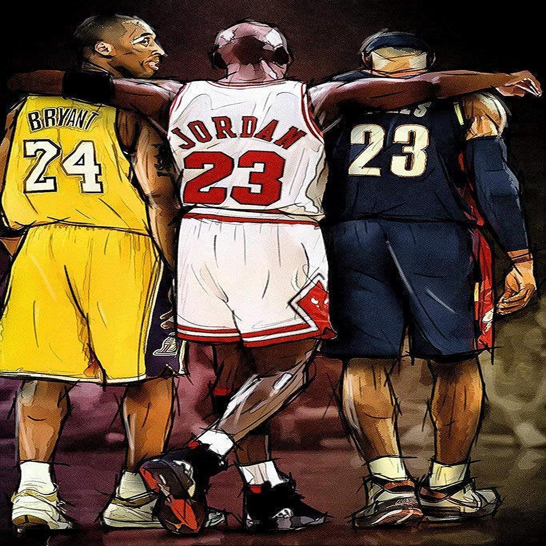 Subrayar Ciencias Sociales Sollozos  Amazon.com: unity One Poster Kobe Bryant Michael Jordan Lebron James NBA  Basketball 12 x 12 inch Poster Rolled: Posters & Prints