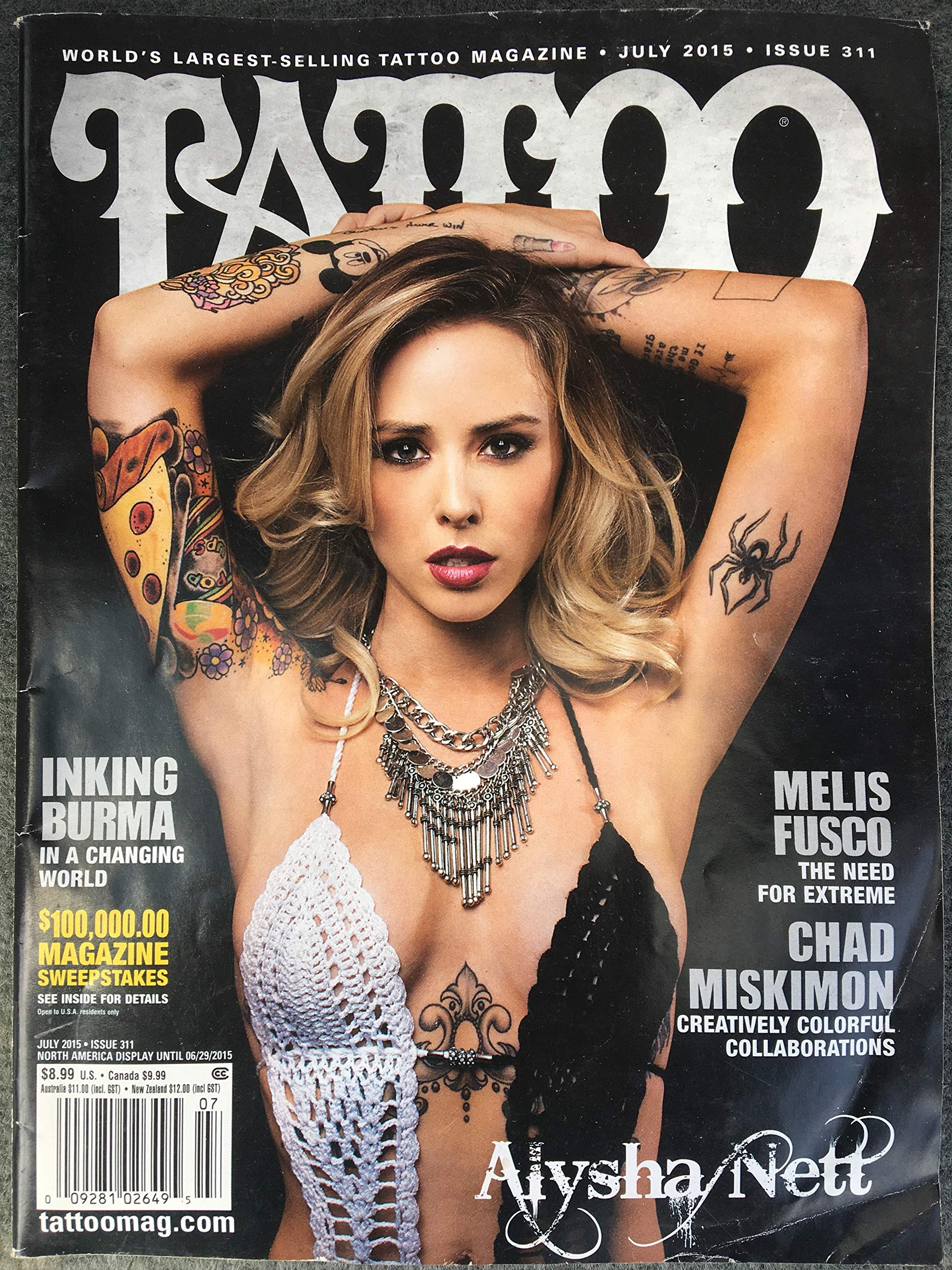 Amazon.com: Tattoo Magazine July 2015 #311 - Two Magazines in One ...
