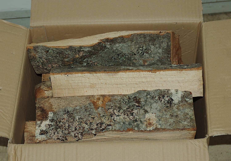 Madera de haya en cepas de 33 cm de longitud en caja de 12 kg.: Amazon.es: Hogar