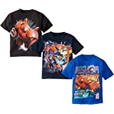 Disney Boys' Big Hero 6 T-Shirts 3-Pack