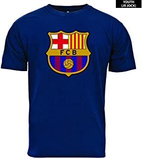 63805f6c5 Amazon.com : Nike Youth FC Barcelona Crest T-Shirt [DEEP Royal Blue ...