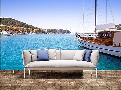 Amazon.com: Wall Print Andratx port marina in Mallorca ...