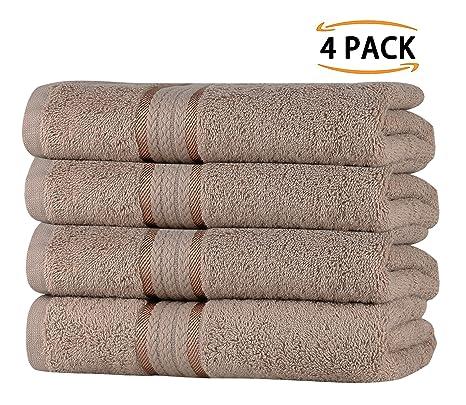 SweetNeedle Super Soft - Paquete de 4 toallas de mano 50x90 Lino, 580 GSM -
