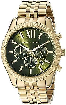 e39996cf2e1 Image Unavailable. Image not available for. Color  Michael Kors Men s  Lexington Gold-Tone Watch MK8446